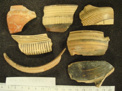 Proto-Corinthian kotyle rim and wall fragment