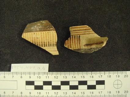 Proto-Corinthian skyphos fragment, with Geometric decoration