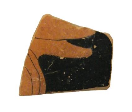 Attic red-figure pottery oinochoe fragments depicting a mythological scene