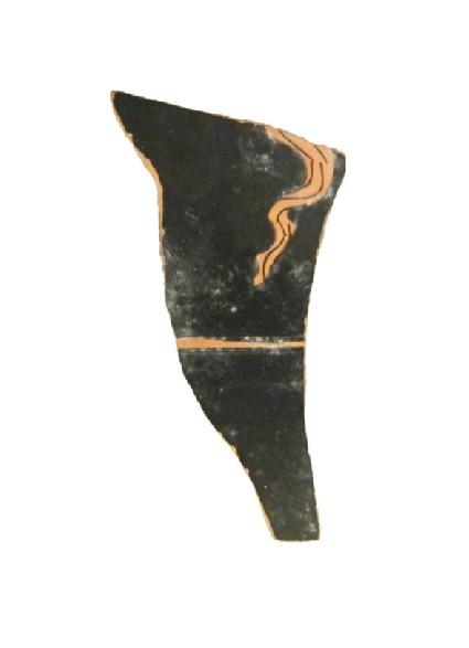 Attic red-figure pottery oinochoe sherd