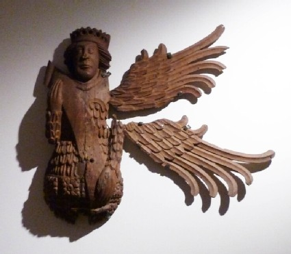 Wooden angel wings