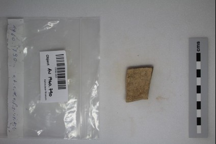 White Painted Wheel-made III Potsherd-Carinated Dish