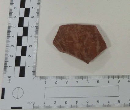 Sherd of a Samian bowl with the figure of Perseus