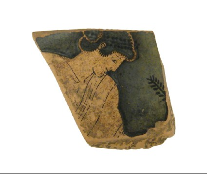 Attic red-figure pottery plate sherd