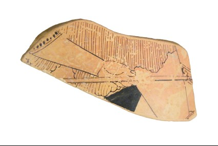 Attic red-figure large closed pottery vessel sherd
