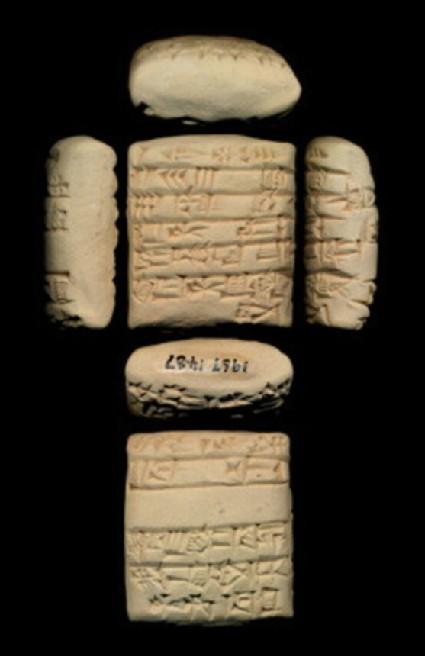 Tablet with cuneiform inscription, economic text