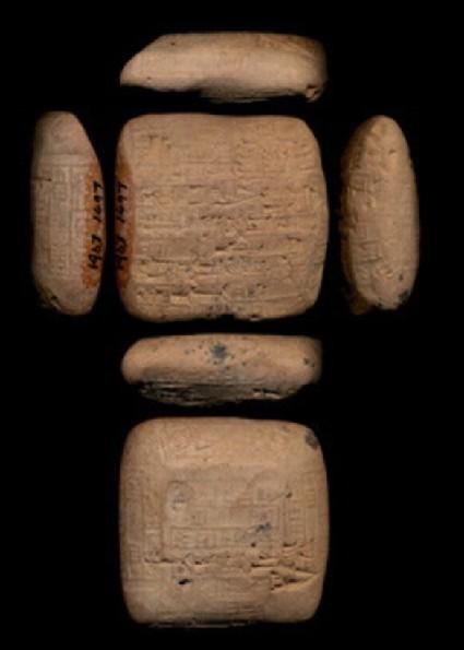Tablet with cuneiform inscription, sealed