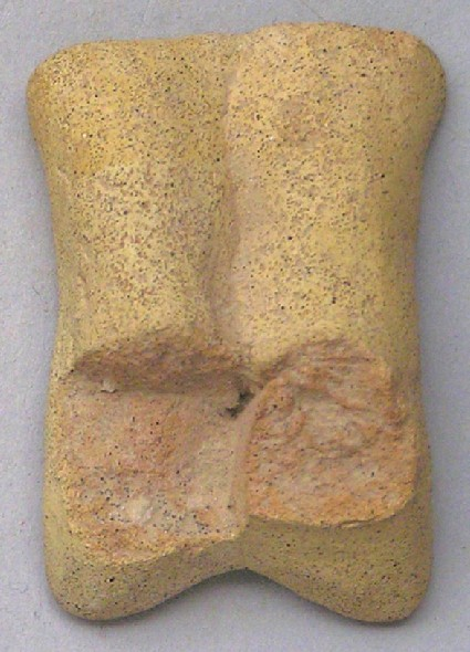Fragment of the feet of a figurine