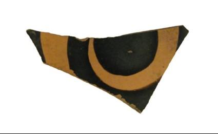 Attic red-figure pottery closed vessel sherd