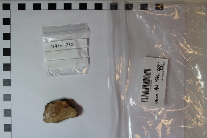 Body fragment of Red on White bowl
