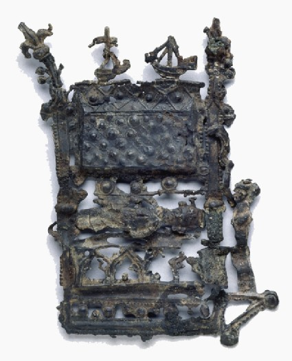 Pilgrim badge in the form of the shrine of Thomas Becket