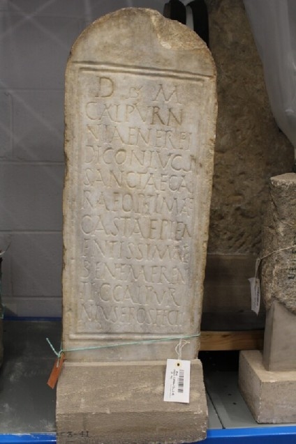Grave stele with Latin inscription for CALPURNIA