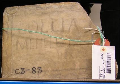 Funeral Latin inscription for LOLLIA