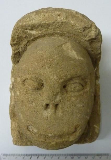 Corbel representing a leper