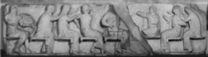 Cast of the east frieze from the Siphnian Treasury, Delphi