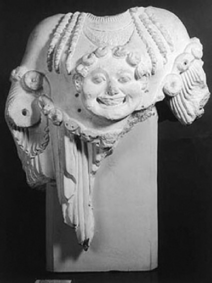 Cast of Athena from the West pediment of the Temple of Apollo, Eretria