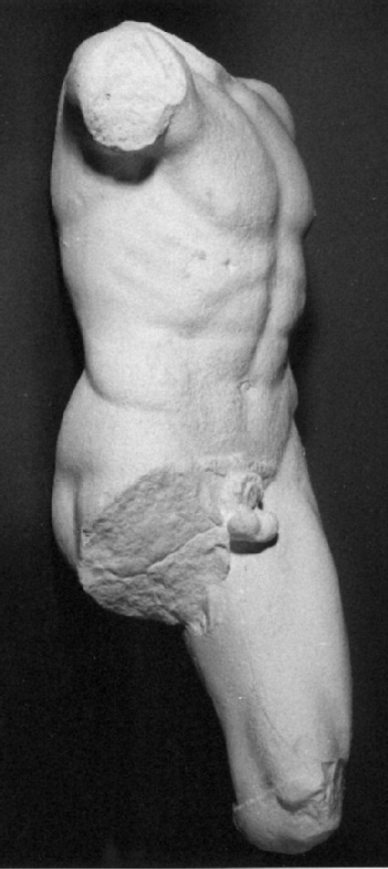 Cast of torso of warrior from the east pediment of the Temple of Aphaia, Aigina