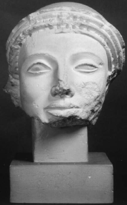 Cast of head of warrior from the east pediment of the Temple of Aphaia, Aigina
