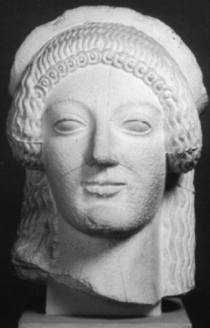 Cast of acroterion from the Temple of Aphaia, Aigina