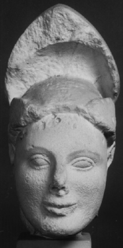 Cast of head of warrior  from the east pediment of the first Temple of Aphaia, Aigina