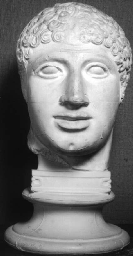 Cast of head of Lapith youth from the West pediment of the Temple of Zeus, Olympia