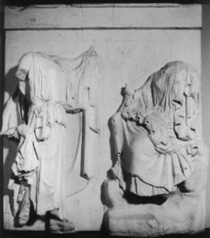 Cast of metope 32 from the north side of the Parthenon, Athens