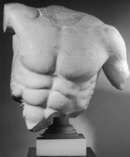 Cast of torso of Poseidon from the west pediment of the Parthenon, Athens