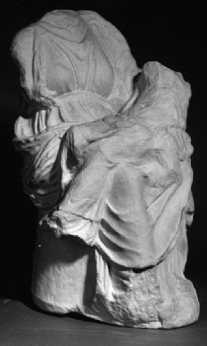 Cast of part of the small pediment from temple F, Eleusis