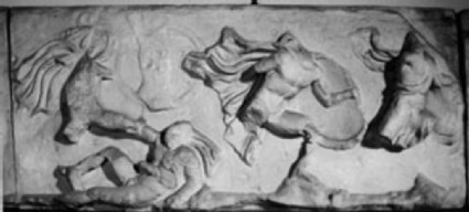 Cast of west frieze from the Temple of Athena Nike, Athenian acropolis