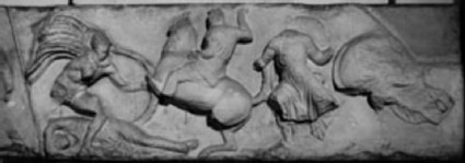 Cast of south frieze from the Temple of Athena Nika, Athenian acropolis