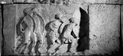 Cast of the west frieze of the Heroon, Trysa