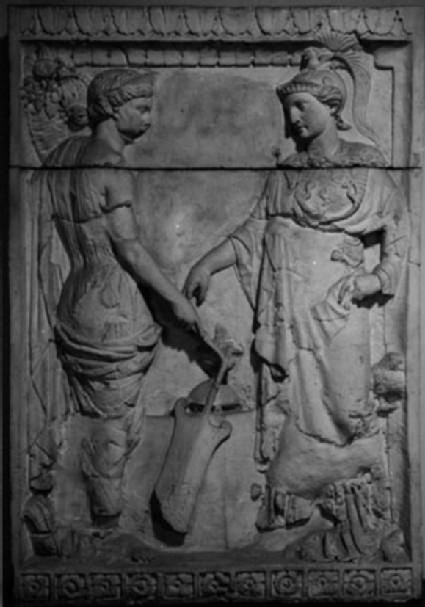 Cast of a relief from the pedestal of Jupiter column, Mainz