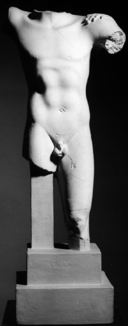 Cast of a nude male torso from the Acropolis, Athens