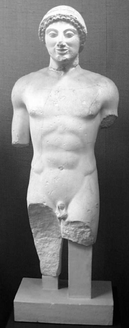 Cast of a kouros from Boiotia