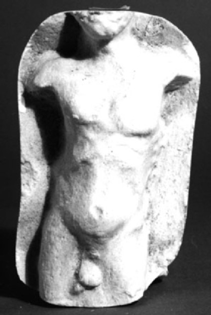 Cast of a relief of a naked male, from Agrigento