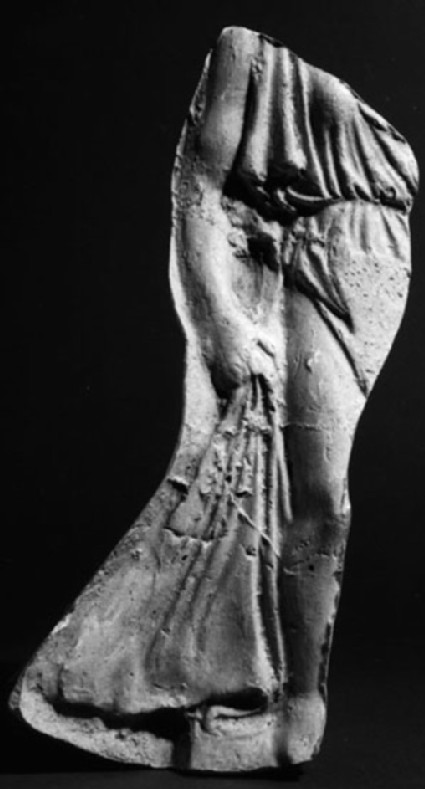 Cast of a relief of a standing figure, possibly Nike, from Agrigento