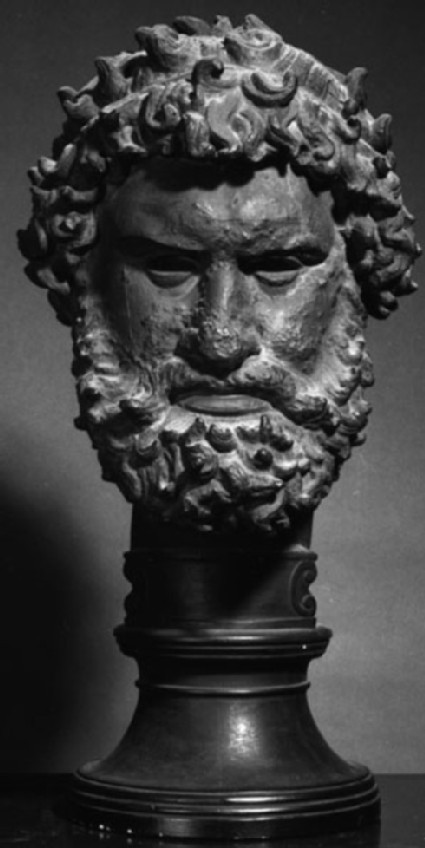 Cast of the head of the Boxer, from Olympia