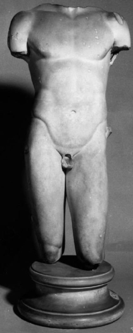 Cast of a torso of a naked youth from Rome