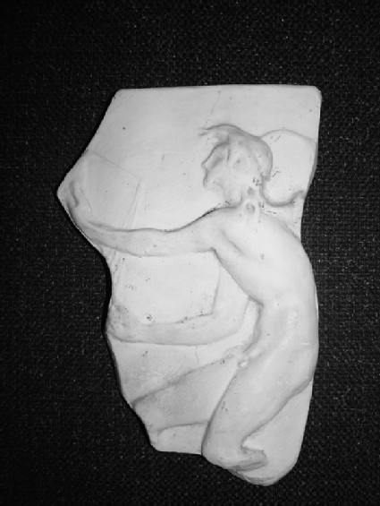 Cast of a relief of naked Kairos