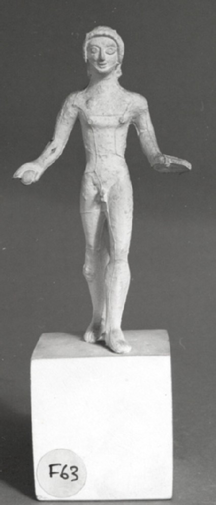 Cast of a statuette of a youth