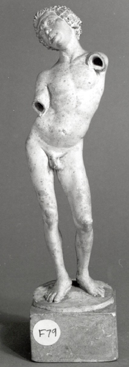 Cast of a statuette of an African boy, from Chalon-sur-Saône