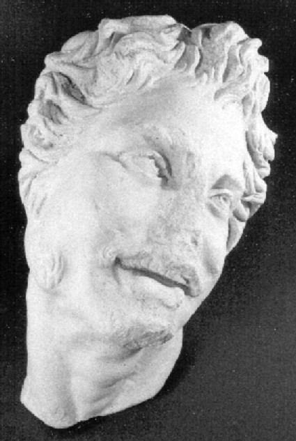 Cast of the head of a satyr, from Aphrodisias