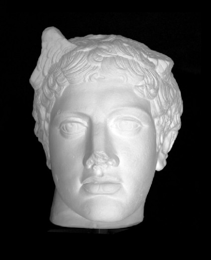 Cast of a head of Hermes