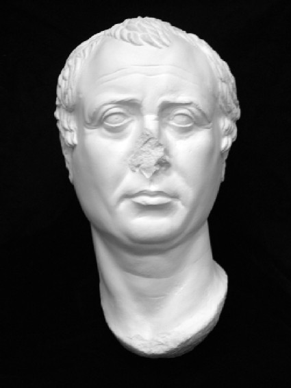 Cast of the portrait head of a man, probably Diodoros Pasparos, from Pergamon