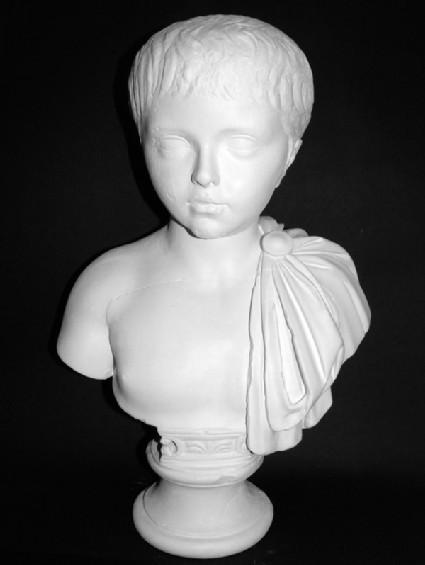 Cast of the head of a boy from the Palatine Hill, Rome