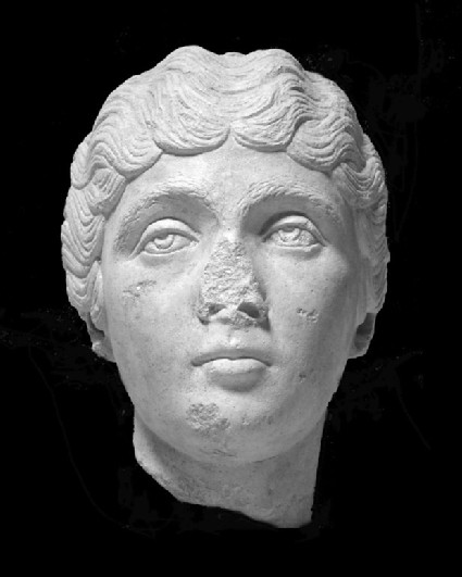Cast of the head of a young woman, from Aphrodisias