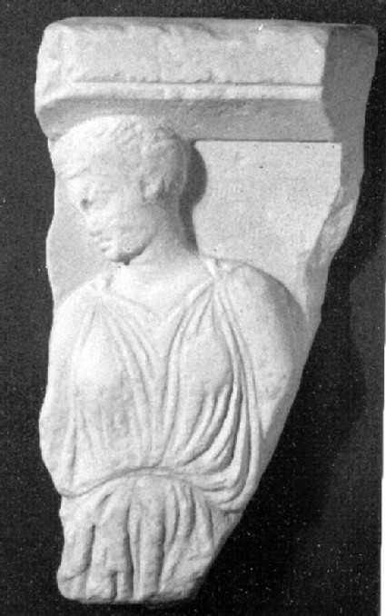 Cast of a fragment of relief from a votive stele from the Acropolis, Athens