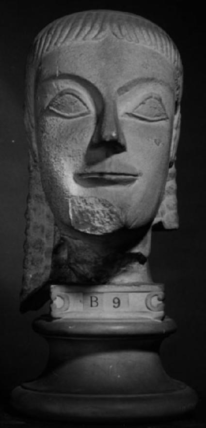 Cast of a kouros head from Boiotia