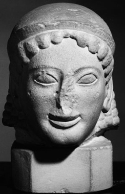 Cast of the head of a kore from the Acropolis, Athens
