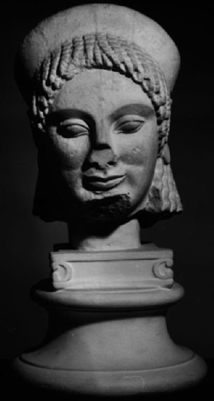 Cast of a kore head from Boiotia